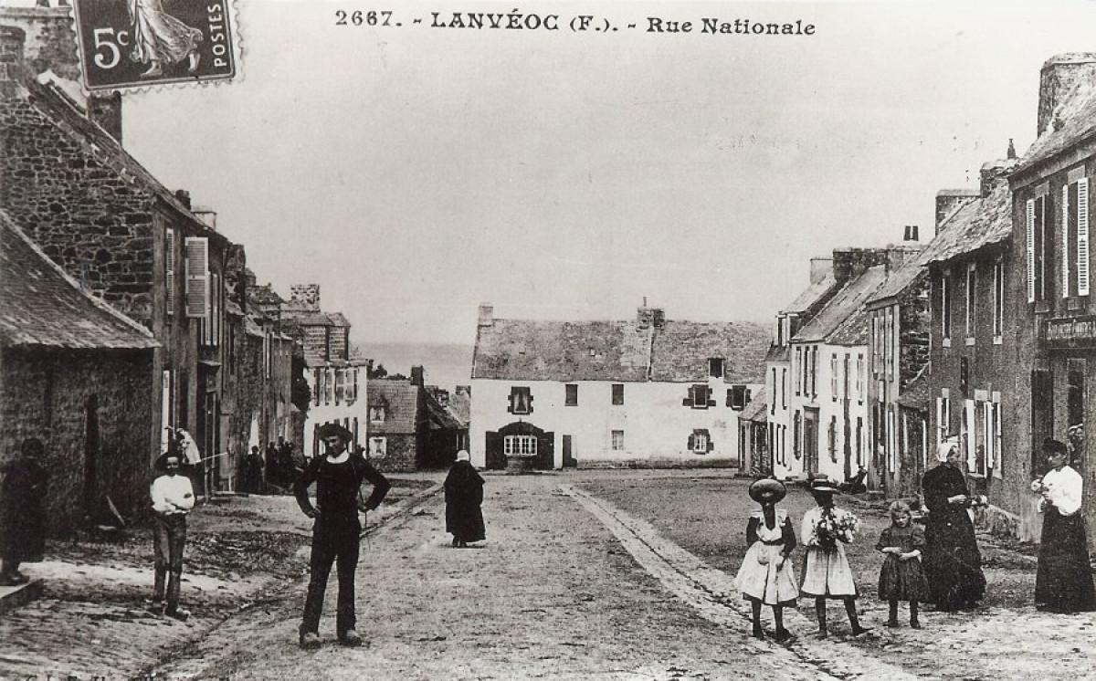 La Grand'rue de Lanvéoc autrefois